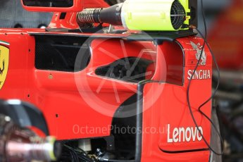 World © Octane Photographic Ltd. Formula 1 – British GP - Pit Lane. Scuderia Ferrari SF71-H. Silverstone Circuit, Towcester, UK. Thursday 5th July 2018.