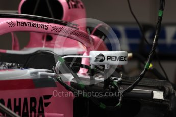 World © Octane Photographic Ltd. Formula 1 – British GP - Pit Lane. Sahara Force India VJM11. Silverstone Circuit, Towcester, UK. Thursday 5th July 2018.