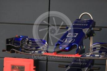 World © Octane Photographic Ltd. Formula 1 – British GP - Pit Lane. Scuderia Toro Rosso STR13. Silverstone Circuit, Towcester, UK. Thursday 5th July 2018.