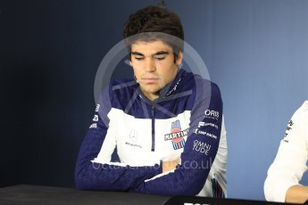 World © Octane Photographic Ltd. Formula 1 – Canadian GP - Thursday Driver Press Conference. Williams Martini Racing – Lance Stroll. Circuit Gilles Villeneuve, Montreal, Canada. Thursday 7th June 2018.