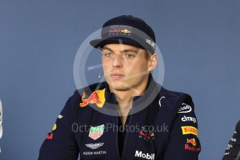 World © Octane Photographic Ltd. Formula 1 – Canadian GP - Thursday Driver Press Conference. Aston Martin Red Bull Racing TAG Heuer - Max Verstappen. Circuit Gilles Villeneuve, Montreal, Canada. Thursday 7th June 2018.