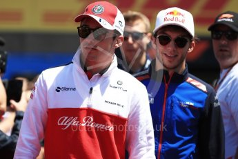 World © Octane Photographic Ltd. Formula 1 – Canadian GP - Drivers Parade. Alfa Romeo Sauber F1 Team C37 – Marcus Ericsson and Scuderia Toro Rosso STR13 – Pierre Gasly. Circuit Gilles Villeneuve, Montreal, Canada. Sunday 10th June 2018.