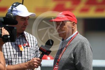 World © Octane Photographic Ltd. Formula 1 - Canadian GP - Grid. Niki Lauda - Non-Executive Chairman of Mercedes-Benz Motorsport. Circuit Gilles Villeneuve, Montreal, Canada. Sunday 10th June 2018.