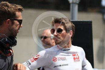 World © Octane Photographic Ltd. Formula 1 – Canadian GP - Grid. Haas F1 Team VF-18 – Romain Grosjean. Circuit Gilles Villeneuve, Montreal, Canada. Sunday 10th June 2018.