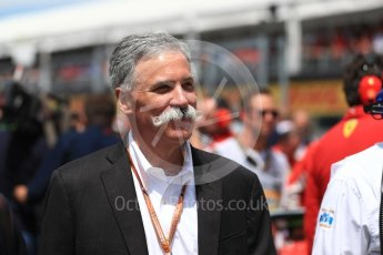 World © Octane Photographic Ltd. Formula 1 - Canadian GP - Driver Parade. Chase Carey - Chief Executive Officer of the Formula One Group. Circuit Gilles Villeneuve, Montreal, Canada. Sunday 10th June 2018.