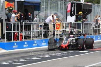 World © Octane Photographic Ltd. Formula 1 – Canadian GP - Practice 3. Haas F1 Team VF-18 – Romain Grosjean. Circuit Gilles Villeneuve, Montreal, Canada. Saturday 9th June 2018.