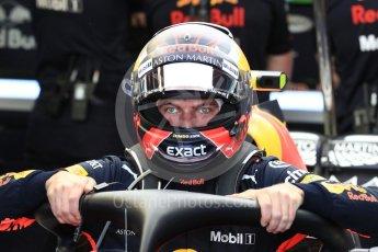 World © Octane Photographic Ltd. Formula 1 – Canadian GP - Practice 3. Aston Martin Red Bull Racing TAG Heuer RB14 – Max Verstappen. Circuit Gilles Villeneuve, Montreal, Canada. Saturday 9th June 2018.