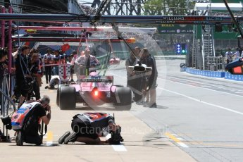 World © Octane Photographic Ltd. Formula 1 – Canadian GP - Practice 3. Sahara Force India VJM11 - Sergio Perez. Circuit Gilles Villeneuve, Montreal, Canada. Saturday 9th June 2018.