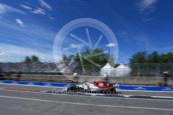World © Octane Photographic Ltd. Formula 1 – Canadian GP - Practice 3. Alfa Romeo Sauber F1 Team C37 – Charles Leclerc. Circuit Gilles Villeneuve, Montreal, Canada. Saturday 9th June 2018.