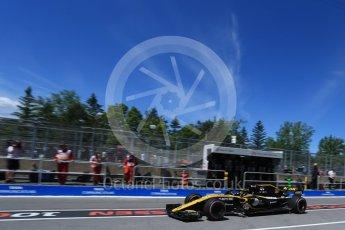 World © Octane Photographic Ltd. Formula 1 – Canadian GP - Practice 3. Renault Sport F1 Team RS18 – Nico Hulkenberg. Circuit Gilles Villeneuve, Montreal, Canada. Saturday 9th June 2018.