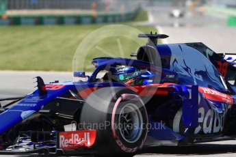 World © Octane Photographic Ltd. Formula 1 – Canadian GP - Quailfying. Scuderia Toro Rosso STR13 – Brendon Hartley. Circuit Gilles Villeneuve, Montreal, Canada. Saturday 9th June 2018.