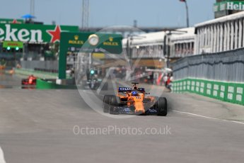 World © Octane Photographic Ltd. Formula 1 – Canadian GP - Quailfying. McLaren MCL33 – Fernando Alonso. Circuit Gilles Villeneuve, Montreal, Canada. Saturday 9th June 2018.