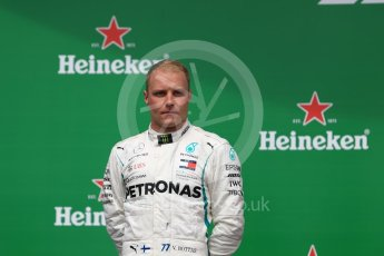 World © Octane Photographic Ltd. Formula 1 – Canadian GP - Race Podium. Mercedes AMG Petronas Motorsport AMG F1 W09 EQ Power+ - Valtteri Bottas. Circuit Gilles Villeneuve, Montreal, Canada. Sunday 10th June 2018.