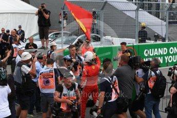 World © Octane Photographic Ltd. Formula 1 – Canadian GP - Race Podium. Scuderia Ferrari SF71-H – Sebastian Vettel. Circuit Gilles Villeneuve, Montreal, Canada. Sunday 10th June 2018.