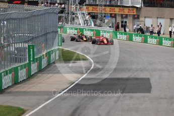 World © Octane Photographic Ltd. Formula 1 – Canadian GP - Race. Scuderia Ferrari SF71-H – Sebastian Vettel. Circuit Gilles Villeneuve, Montreal, Canada. Sunday 10th June 2018.
