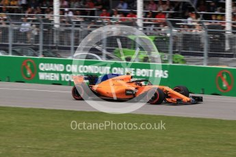 World © Octane Photographic Ltd. Formula 1 – Canadian GP - Race. McLaren MCL33 – Stoffel Vandoorne. Circuit Gilles Villeneuve, Montreal, Canada. Sunday 10th June 2018.