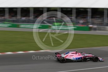 World © Octane Photographic Ltd. Formula 1 – Canadian GP - Race. Sahara Force India VJM11 - Esteban Ocon. Circuit Gilles Villeneuve, Montreal, Canada. Sunday 10th June 2018.