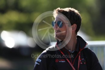 World © Octane Photographic Ltd. Formula 1 – Canadian GP - Paddock. Haas F1 Team VF-18 – Romain Grosjean. Circuit Gilles Villeneuve, Montreal, Canada. Friday 8th June 2018.