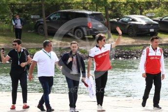 World © Octane Photographic Ltd. Formula 1 – Canadian GP - Paddock. Alfa Romeo Sauber F1 Team C37 – Charles Leclerc. Circuit Gilles Villeneuve, Montreal, Canada. Saturday 9th June 2018.