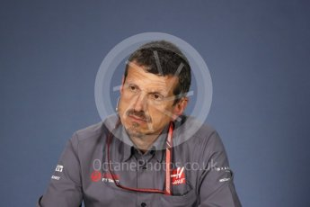 World © Octane Photographic Ltd. Formula 1 - Canadian GP - Friday FIA Team Press Conference. Guenther Steiner  - Team Principal of Haas F1 Team. Circuit Gilles Villeneuve, Montreal, Canada. Friday 8th June 2018.
