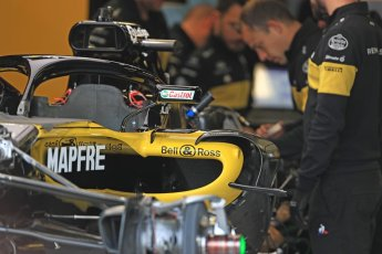 World © Octane Photographic Ltd. Formula 1 – Canadian GP - Thursday Pit Lane. Renault Sport F1 Team RS18. Circuit Gilles Villeneuve, Montreal, Canada. Thursday 7th June 2018.