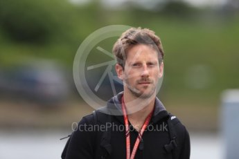 World © Octane Photographic Ltd. Formula 1 – Canadian GP - Paddock. Haas F1 Team VF-18 – Romain Grosjean. Circuit Gilles Villeneuve, Montreal, Canada. Thursday 7th June 2018.