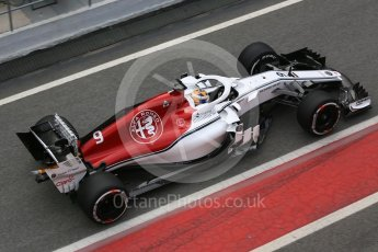 World © Octane Photographic Ltd. Formula 1 – Winter Test 1. Alfa Romeo Sauber F1 Team C37 – Marcus Ericsson, Circuit de Barcelona-Catalunya, Spain. Monday 26th February 2018.