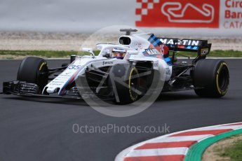 World © Octane Photographic Ltd. Formula 1 – Winter Test 1. Williams Martini Racing FW41 – Sergey Sirotkin. Circuit de Barcelona-Catalunya, Spain. Monday 26th February 2018.