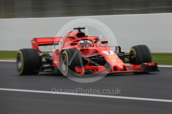 World © Octane Photographic Ltd. Formula 1 – Winter Test 1. Scuderia Ferrari SF71-H – Kimi Raikkonen, Circuit de Barcelona-Catalunya, Spain. Monday 26th February 2018.