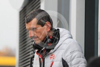World © Octane Photographic Ltd. Formula 1 – Winter Test 1. Haas F1 Team - Team Chief - Guenther Steiner. Circuit de Barcelona-Catalunya, Spain. Tuesday 27th February 2018.