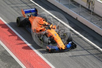 World © Octane Photographic Ltd. Formula 1 – Winter Test 1. McLaren MCL33 – Stoffel Vandoorne. Circuit de Barcelona-Catalunya, Spain. Tuesday 27th February 2018.