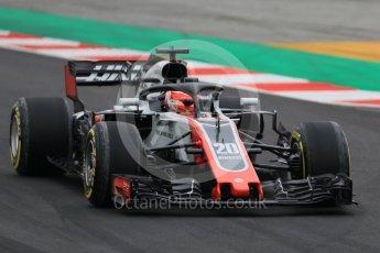 World © Octane Photographic Ltd. Formula 1 – Winter Test 1. Haas F1 Team VF-18 – Kevin Magnussen. Circuit de Barcelona-Catalunya, Spain. Tuesday 27th February 2018.