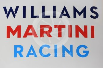 World © Octane Photographic Ltd. Formula 1 – Winter Test 2. Williams Martini Racing logo. Circuit de Barcelona-Catalunya, Spain. Thursday 8th March 2018.