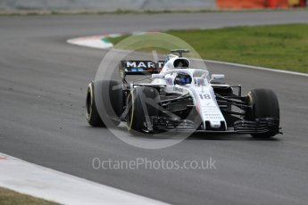 World © Octane Photographic Ltd. Formula 1 – Winter Test 2. Williams Martini Racing FW41 – Lance Stroll. Circuit de Barcelona-Catalunya, Spain. Thursday 8th March 2018.