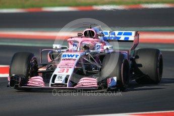 World © Octane Photographic Ltd. Formula 1 – Winter Test 2. Sahara Force India VJM11 - Esteban Ocon. Circuit de Barcelona-Catalunya, Spain. Friday 9th March 2018.