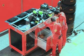 World © Octane Photographic Ltd. Formula 1 – Winter Test 2. Scuderia Ferrari SF71-H – Kimi Raikkonen setting up to start a race simulation. Circuit de Barcelona-Catalunya, Spain. Friday 9th March 2018.