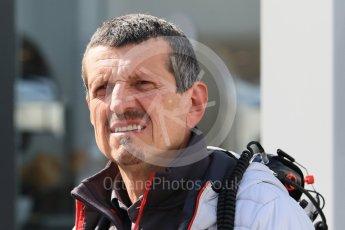 World © Octane Photographic Ltd. Formula 1 – Winter Test 2. Haas F1 Team, Team Princpal – Guenther Steiner. Circuit de Barcelona-Catalunya, Spain. Friday 9th March 2018.