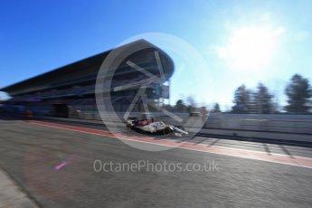 World © Octane Photographic Ltd. Formula 1 – Winter Test 2. Alfa Romeo Sauber F1 Team C37 – Charles Leclerc. Circuit de Barcelona-Catalunya, Spain. Friday 9th March 2018.