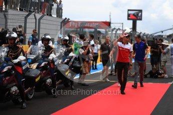 World © Octane Photographic Ltd. Formula 1 – French GP - Drivers Parade. Alfa Romeo Sauber F1 Team C37 – Marcus Ericsson. Circuit Paul Ricard, Le Castellet, France. Sunday 24th June 2018.