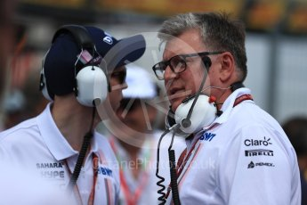 World © Octane Photographic Ltd. Formula 1 - French GP - Grid. Otmar Szafnauer - Chief Operating Officer of Sahara Force India. Circuit Paul Ricard, Le Castellet, France. Sunday 24th June 2018.