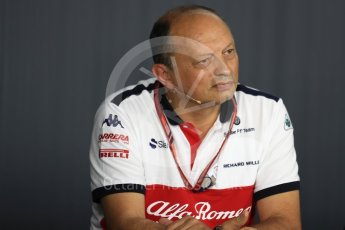 World © Octane Photographic Ltd. Formula 1 - French GP - Friday FIA Team Press Conference. Frederic Vasseur – Team Principal and CEO of Sauber Motorsport AG. Circuit Paul Ricard, Le Castellet, France. Friday 22nd June 2018.