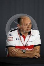 World © Octane Photographic Ltd. Formula 1 - French GP - Friday FIA Team Press Conference. Frederic Vasseur – Team Principal and CEO of Sauber Motorsport AG. Circuit Paul Ricard, Le Castellet, France. Friday 22nd June 2018.
