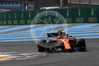 World © Octane Photographic Ltd. Formula 1 – French GP - Practice 2. McLaren MCL33 – Stoffel Vandoorne. Circuit Paul Ricard, Le Castellet, France. Friday 22nd June 2018.