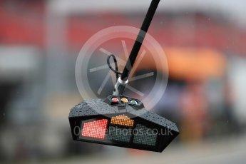 World © Octane Photographic Ltd. Formula 1 – French GP - Practice 3. Renault Sport F1 Team pit lights. Circuit Paul Ricard, Le Castellet, France. Saturday 23rd June 2018.