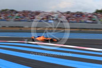 World © Octane Photographic Ltd. Formula 1 – French GP - Qualifying. McLaren MCL33 – Fernando Alonso. Circuit Paul Ricard, Le Castellet, France. Saturday 23rd June 2018.