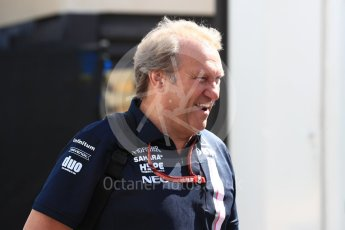 World © Octane Photographic Ltd. Formula 1 - French GP - Paddock. Robert Fernley - Deputy Team Principal of Sahara Force India. Circuit Paul Ricard, Le Castellet, France. Friday 22nd June 2018.