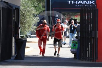 World © Octane Photographic Ltd. Formula 1 – French GP - Paddock. Scuderia Ferrari – Kimi Raikkonen. Circuit Paul Ricard, Le Castellet, France. Friday 22nd June 2018.