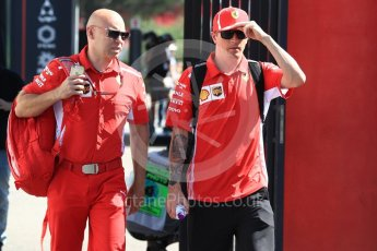 World © Octane Photographic Ltd. Formula 1 – French GP - Paddock. Scuderia Ferrari – Kimi Raikkonen. Circuit Paul Ricard, Le Castellet, France. Friday 22nd June 2018.