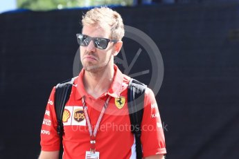 World © Octane Photographic Ltd. Formula 1 – French GP - Paddock. Scuderia Ferrari - Sebastian Vettel. Circuit Paul Ricard, Le Castellet, France. Friday 22nd June 2018.