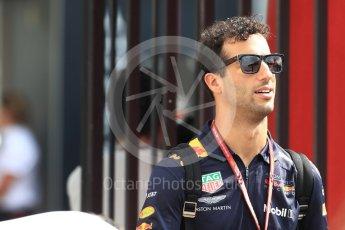 World © Octane Photographic Ltd. Formula 1 – French GP - Paddock. Aston Martin Red Bull Racing TAG Heuer RB14 – Daniel Ricciardo. Circuit Paul Ricard, Le Castellet, France. Saturday 23rd June 2018.